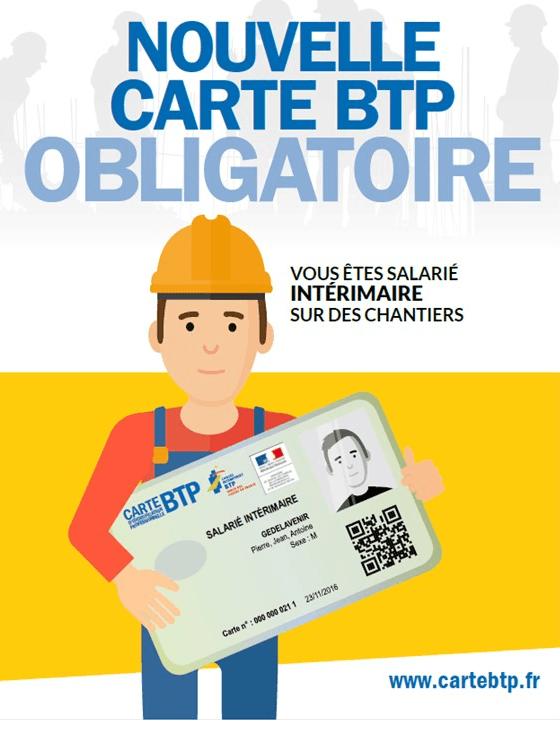 Carte BTP obligatoire